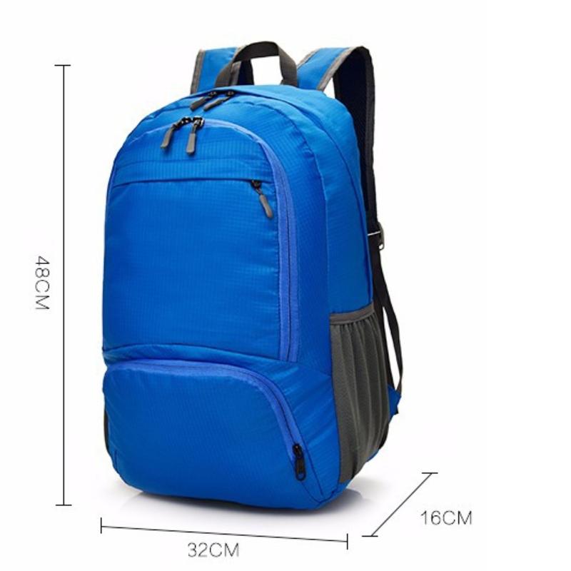 訂做休閒摺疊收納後背包