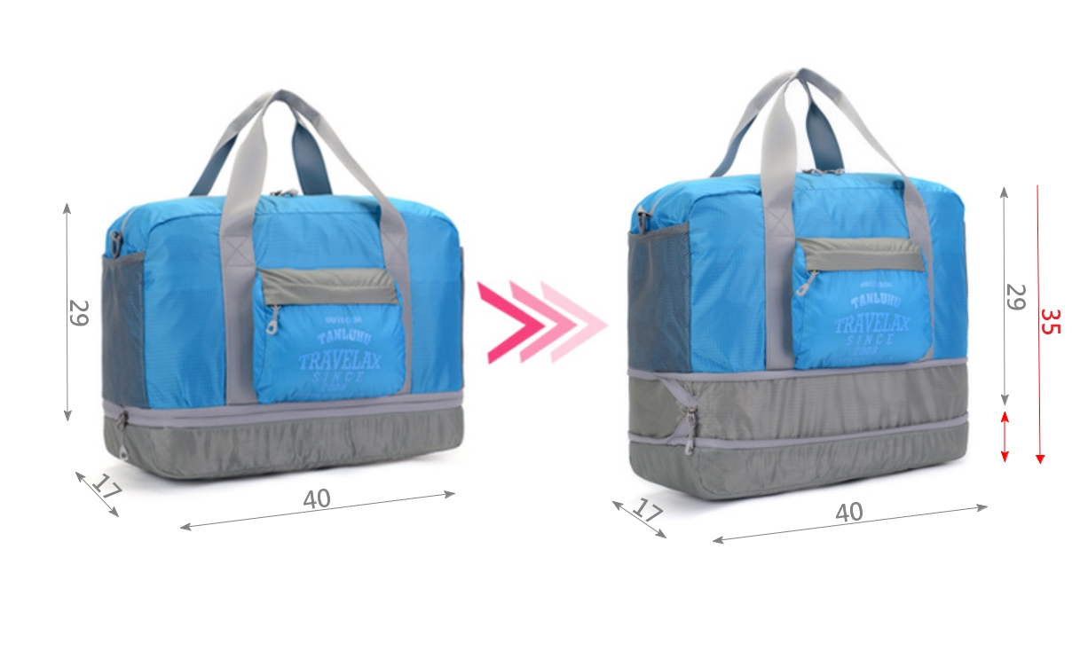客製化大容量摺疊收納兩用手提袋