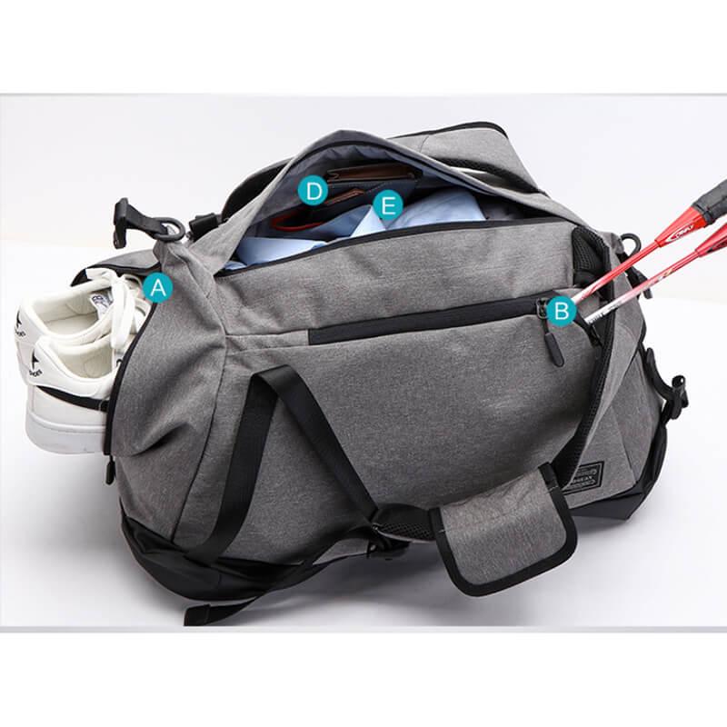 客製學院風運動附鞋袋三用包